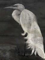 Textured Egret I Fine-Art Print