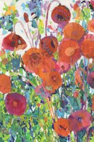 Vivid Poppy Collage I Fine-Art Print