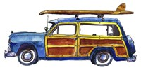 Surf Car IX Fine-Art Print