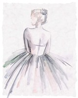 Watercolor Ballerina I Framed Print