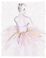 Watercolor Ballerina II Fine-Art Print