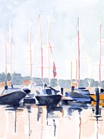 Watercolor Boat Club II Fine-Art Print