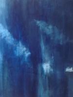 Azul Profundo Triptych III Fine-Art Print