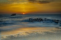 Sunrise On Ocean Shore 1, Cape May National Seashore, NJ Fine-Art Print