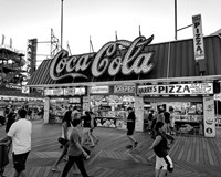 Coca Cola Sign - Boardwalk, Wildwood NJ (BW) Fine-Art Print