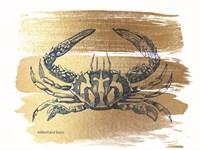 Brushed Gold Crab Fine-Art Print
