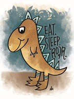 Eat, Sleep, Rawr Fine-Art Print