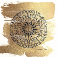 Brushed Gold Compass Fine-Art Print