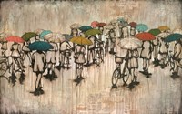 Umbrellas and Bicycles Fine-Art Print