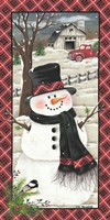 Farmhouse Snowman Fine-Art Print