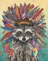Tribal Raccoon Fine-Art Print