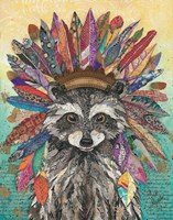 Tribal Raccoon Fine-Art Print