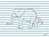 Elephant in Stripes Fine-Art Print