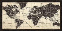 Old World Map Parchment Fine-Art Print