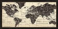 Old World Map Parchment Fine-Art Print