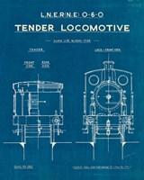 Locomotive Blueprint III Fine-Art Print