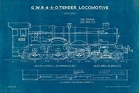 Locomotive Blueprint I Fine-Art Print