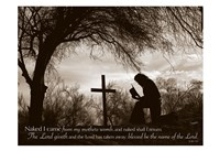 Cowboy at the Cross (Naked I came from my mother's womb...) Fine-Art Print