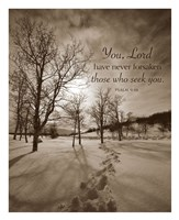 First Snow (You, Lord have never forsaken...) Fine-Art Print