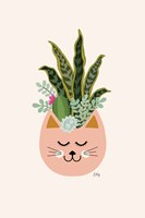 Cats and Plants Fine-Art Print