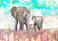 Elephant Family Fine-Art Print
