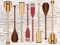 Canoe, Paddles & Oar Fine-Art Print