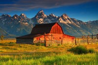 Barn and Grand Tetons, WY Fine-Art Print