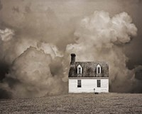 Lone House in Brown Fine-Art Print