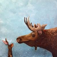 Moose and Rabbit Fine-Art Print
