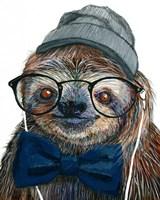 Hipster Sloth Fine-Art Print