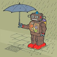 Brolly Bot Fine-Art Print