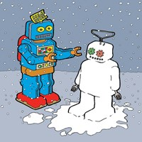 The Snow Bot Fine-Art Print