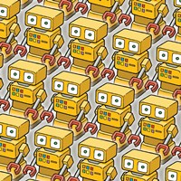 Yellow Robo Army Fine-Art Print