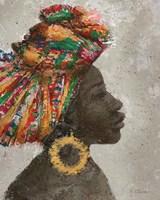 Portrait of a Woman I (gold hoop) Fine-Art Print