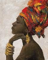 Portrait of a Woman II (gold bracelets) Fine-Art Print