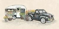 Vintage Flower Truck and Trailer Fine-Art Print
