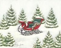 Tree Farm Sleigh Fine-Art Print