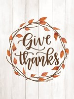 Give Thanks Wreath Fine-Art Print