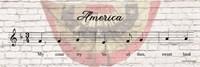 America Sheet Music Fine-Art Print