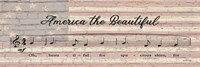 America the Beautiful Sheet Music Fine-Art Print