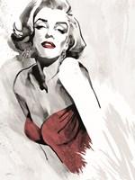 Marilyn's Pose Red Dress Fine-Art Print