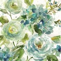 Cool Watercolor Floral Fine-Art Print