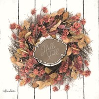 Hello Fall Wreath Fine-Art Print