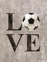 LOVE Soccer Fine-Art Print