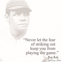 Baseball Greats - Babe Ruth Fine-Art Print
