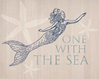 Mermaid At One with the Sea Fine-Art Print