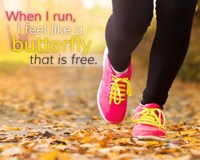 When I Run I Feel Like a Butterfly Fine-Art Print