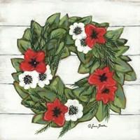 Magnolia Winter Wreath Fine-Art Print