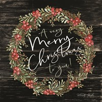 A Very Merry Christmas Wreath Fine-Art Print