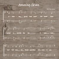 Amazing Grace Sheet Music Fine-Art Print